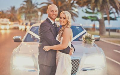 Silver Limousine Hire – Melbourne Wedding