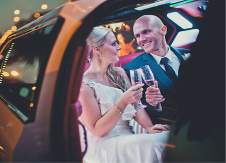 Silver limousine hire - melbourne weddings
