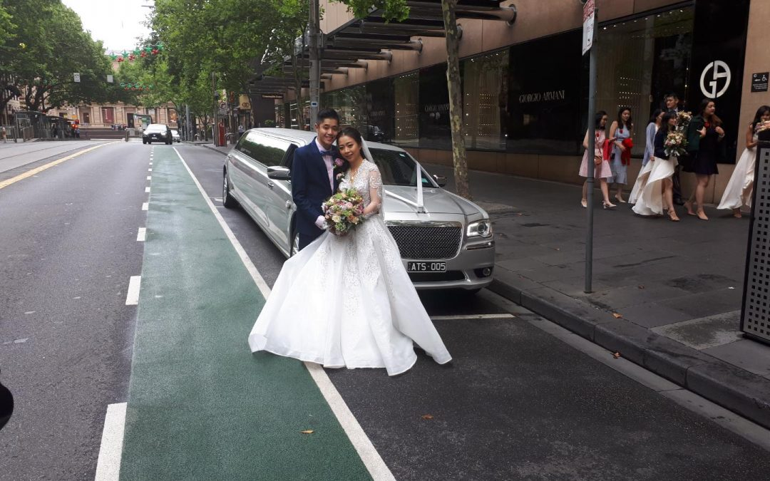 Silver Wedding Limo Hire Melbourne – Summer Wedding in the City