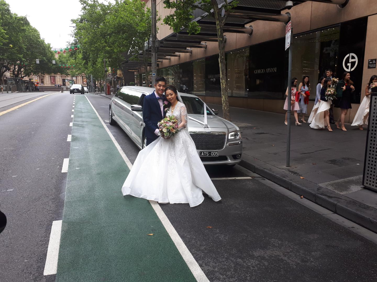 silver wedding limo hire Melbourne