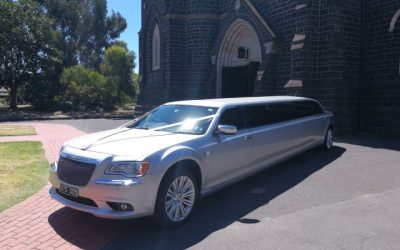 Elegant Silver Limousine Hire – South Melbourne Wedding Inspiration